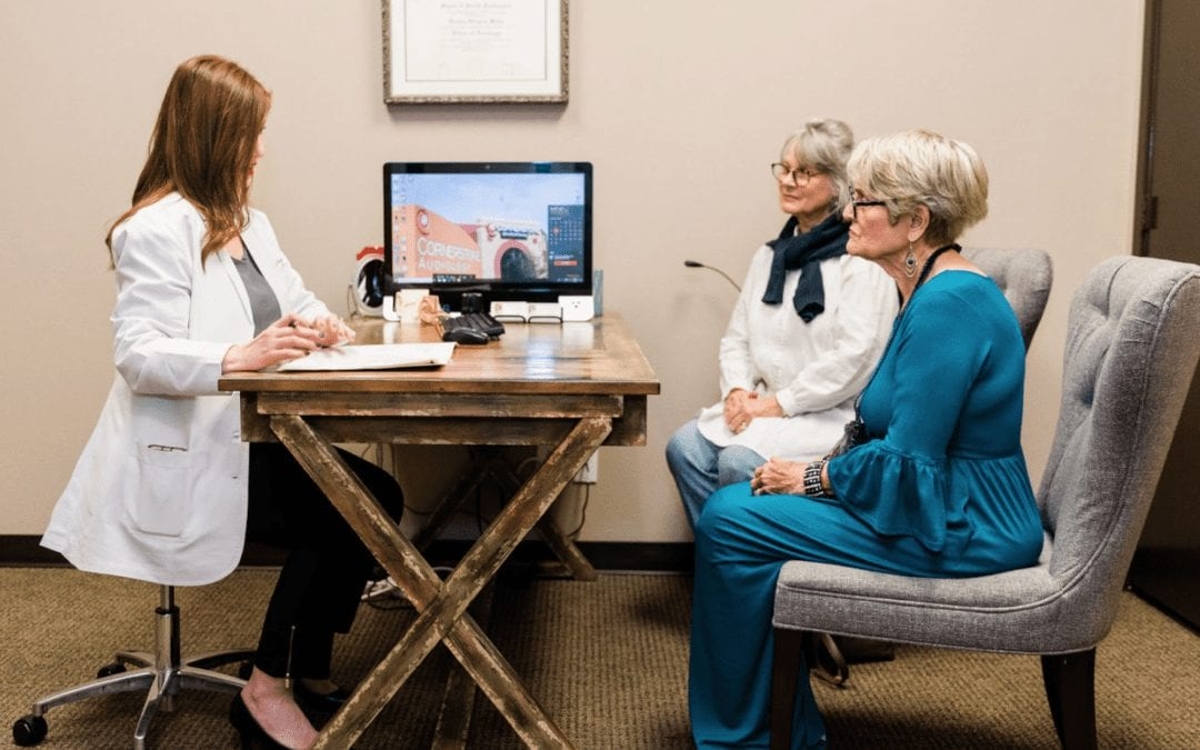 Patients receiving a consultation from Cornerstone Audiology Doctor