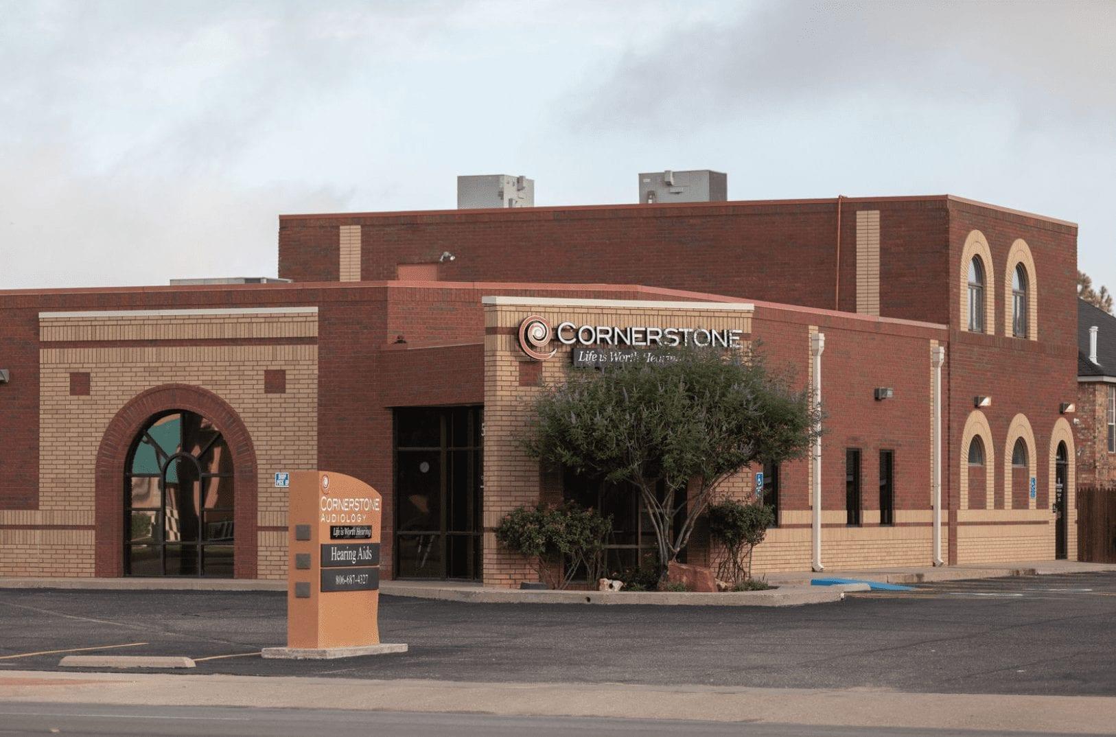 Cornerstone Audiology building in Lubbock, Texas.