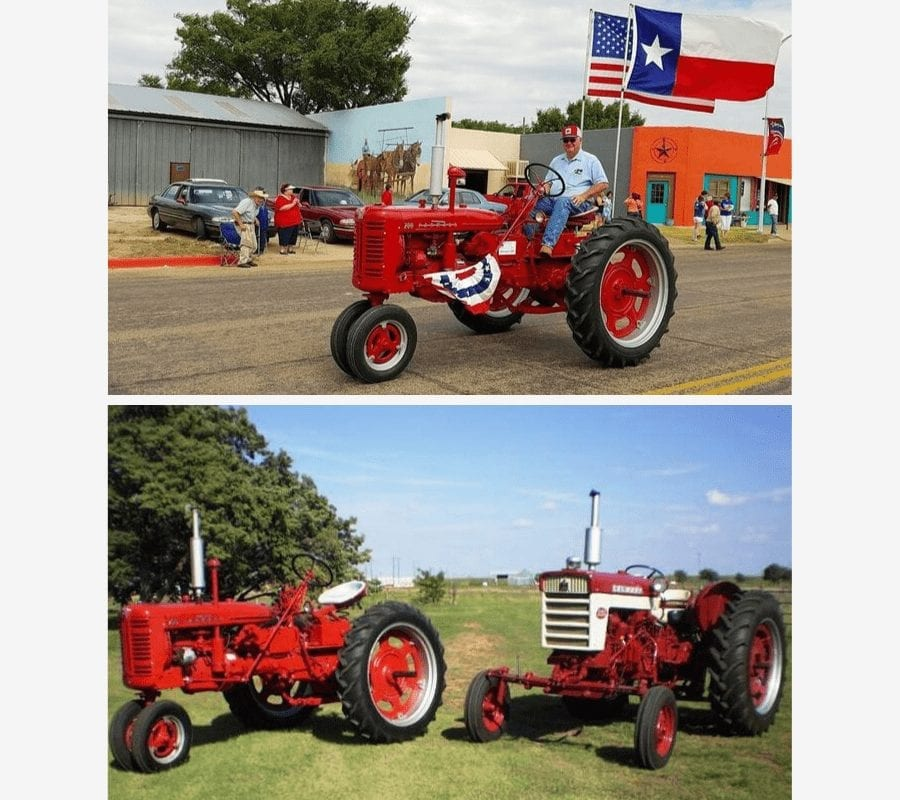 Cornerstone Audiology Patient of the month Jim Johnson on a tractor