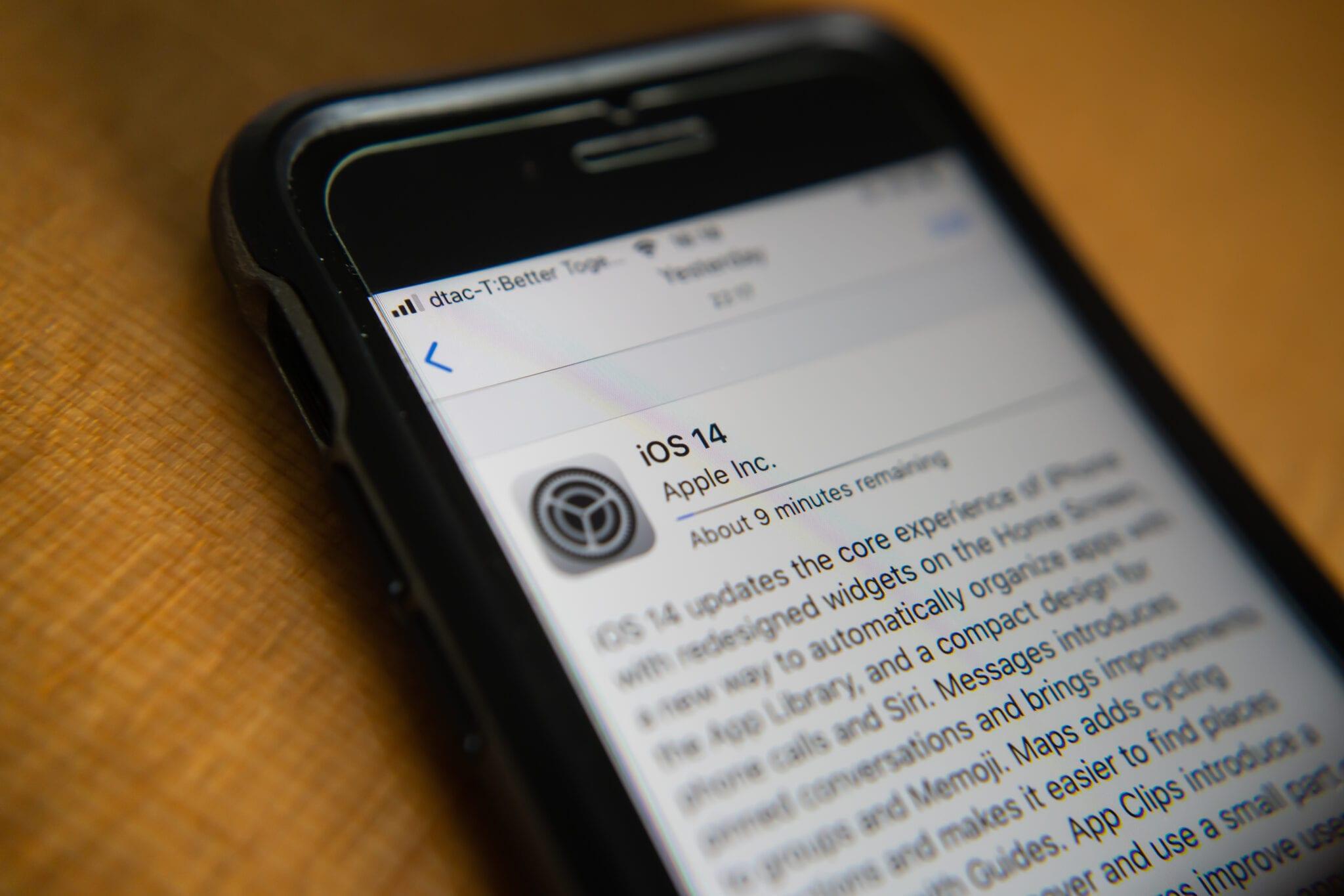 iOS 14 update