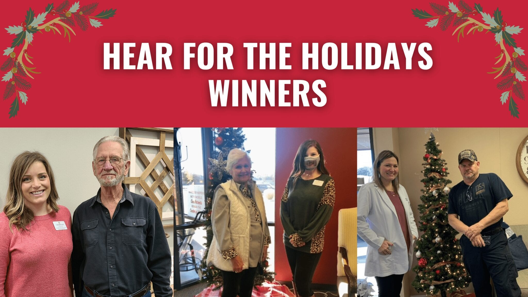 Lucky winner of our Hear for the Holidays competition